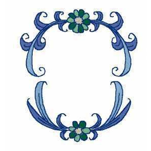 Letter Monogram Frames Embroidery Design