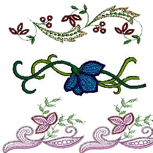 21 set Linen Embroidery Design