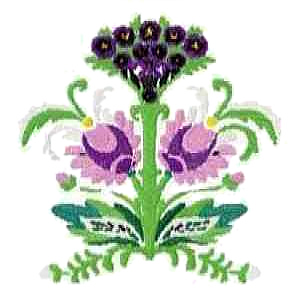 Floral Deadly Nightshade Embroidery Design