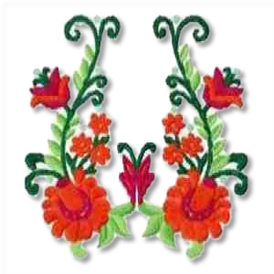 Floral Fancy Embroidery Design