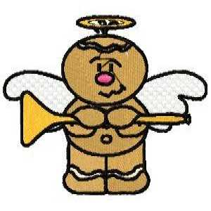 Gingerbread Angle Embroidery Design