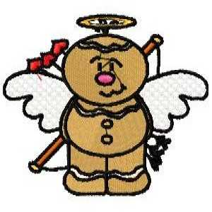 Angle Cupid Embroidery Design