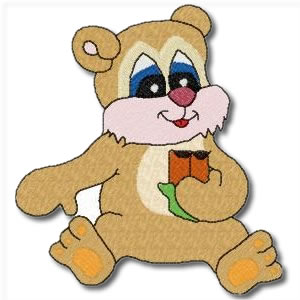 Candy Bears with Sandwich Embroidery Design