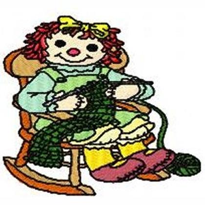 Raggedy Granny Embroidery Design
