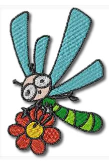 Flower Bug Embroidery Design