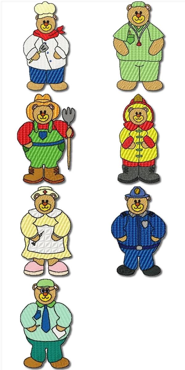 Career Bears Set of 14 designs