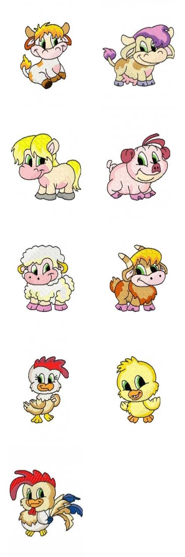 9 set Farm Animals