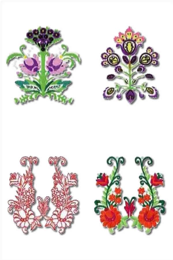 8 set Beautiful Florals