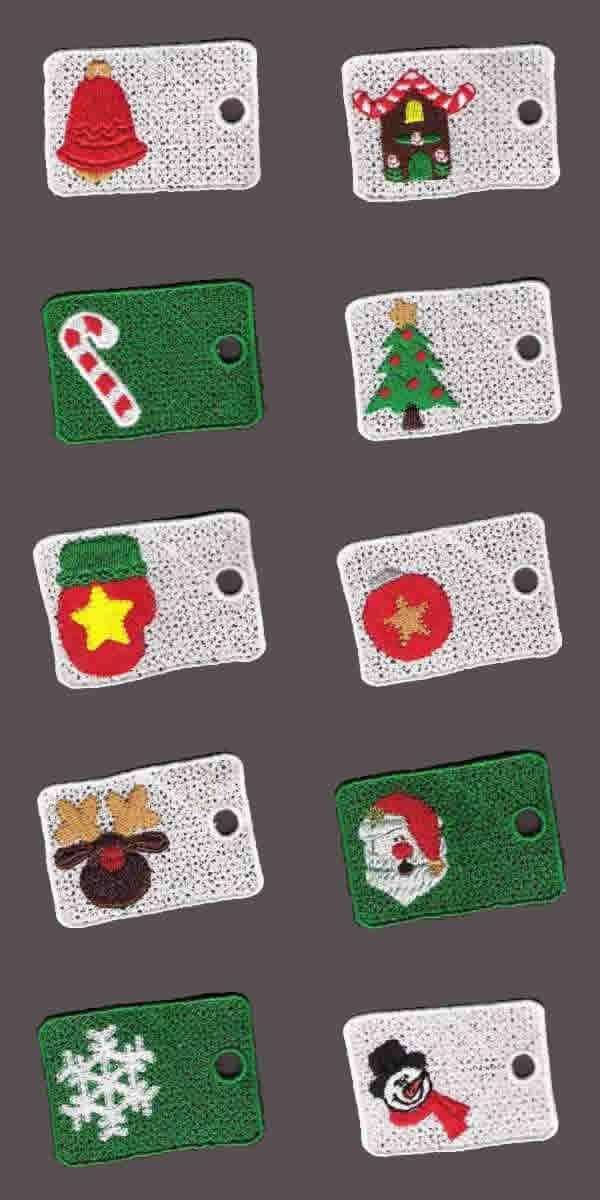 10 Set Christmas Gift Tags