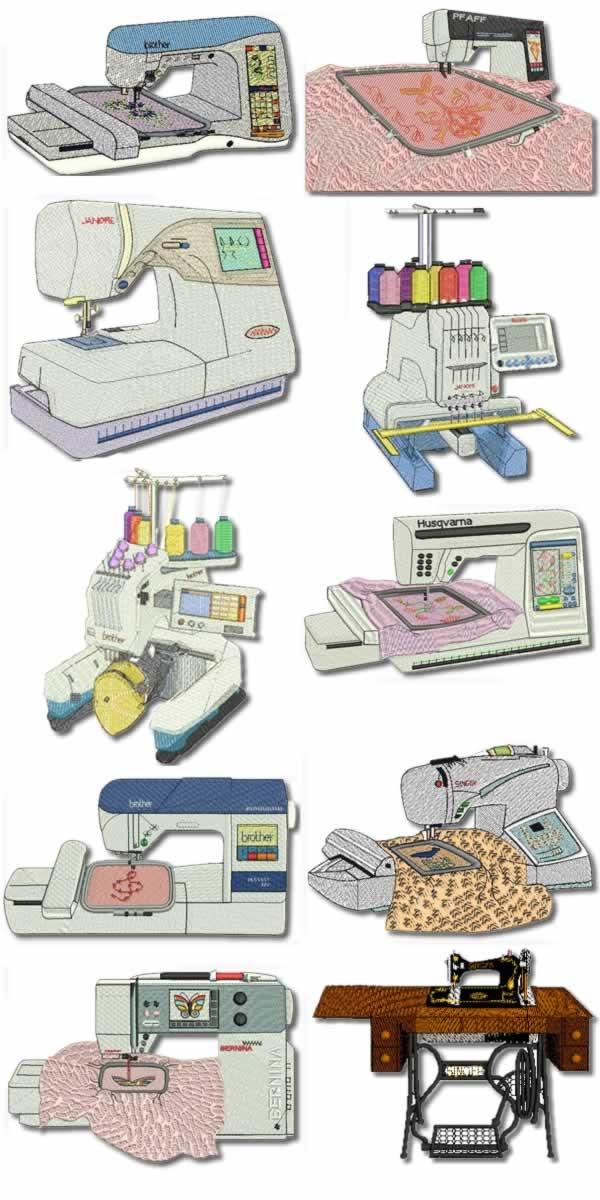 10 set Embroidery Machine