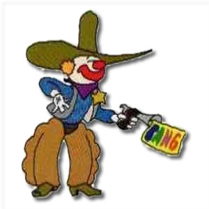 Cowboy Clown Embroidery Design
