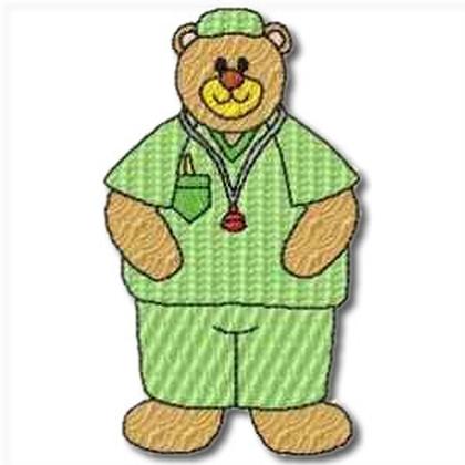Career Bears Surgeon Embroidery Design