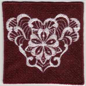 Ornament FSL Embroidery Design
