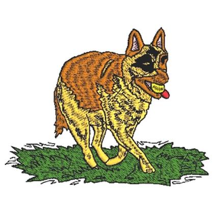 Alsation Dog Embroidery Design