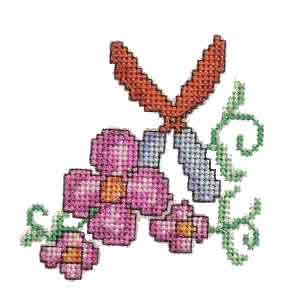 Garden Shears Embroidery Design