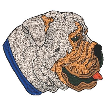 Shar-Pei Dog Embroidery Design