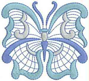 Jacobean Butterfly Embroidery Design