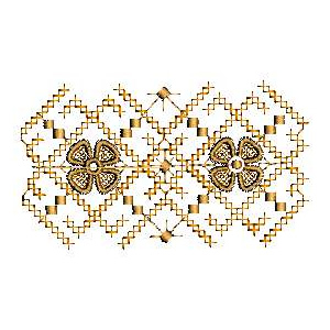 Crossstitch Border Embroidery Design