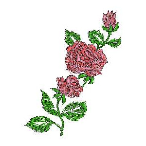 Bedding Linen Rose Embroidery Design