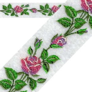 Continuous Rose Border Machine Embroidery Designs