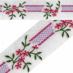 Endless Floral Ribbon Embroidery Design