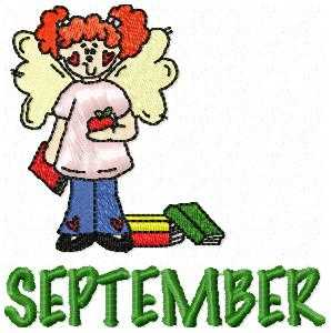 September Cutie Embroidery Design