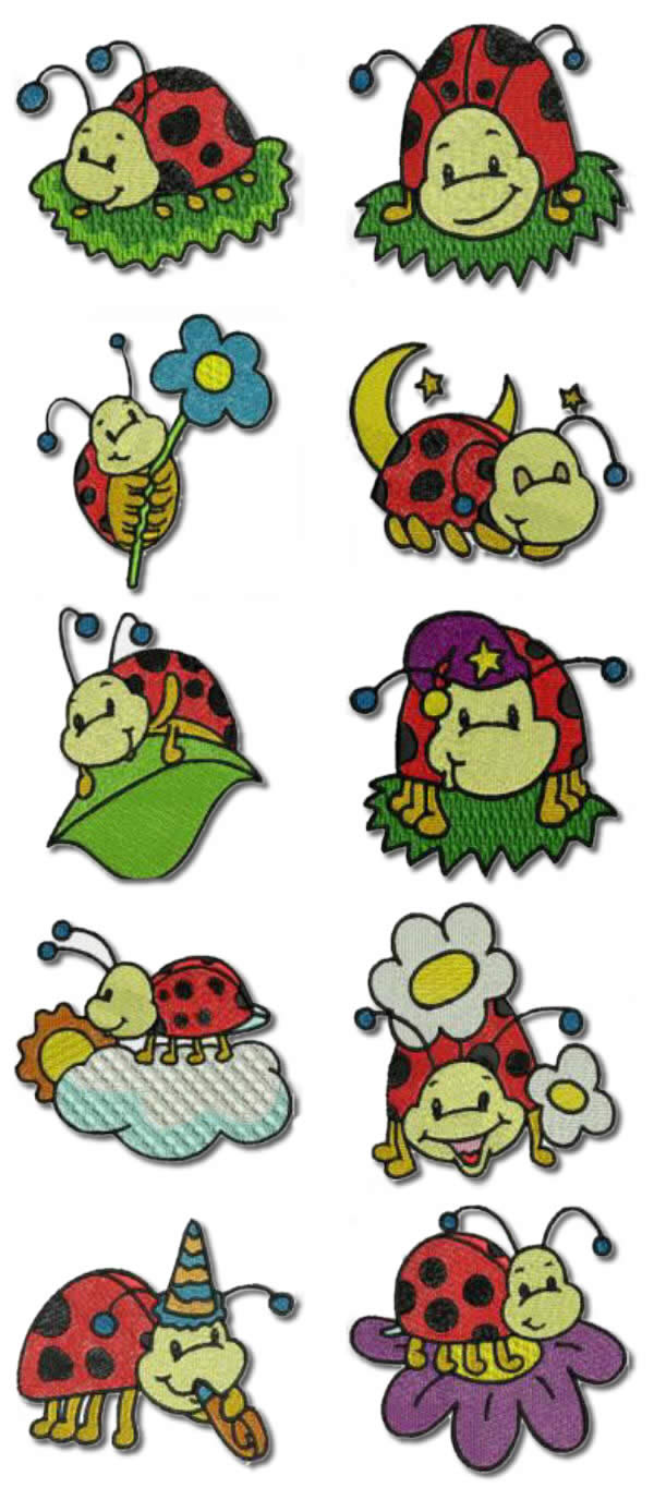 10 Set Ladybirds