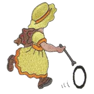 Summer Sun Bonnet Girl Embroidery Design