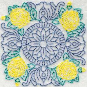 Quilting Vintage Floral Embroidery Design