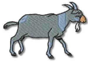 Goat Embroidery Design