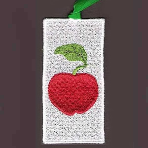 Apple Lace Bookmark Embroidery Design