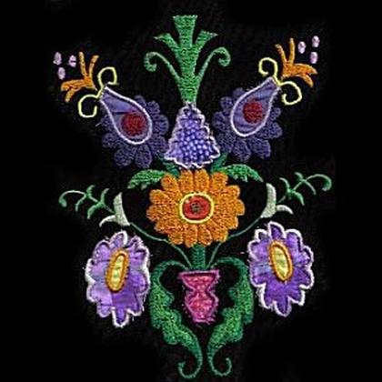 Jacobean Applique Embroidery Design