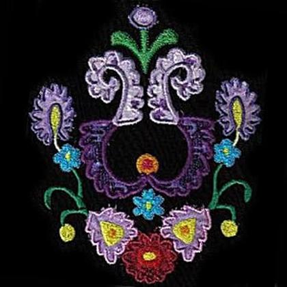 Applique Jacobean Type Embroidery Design