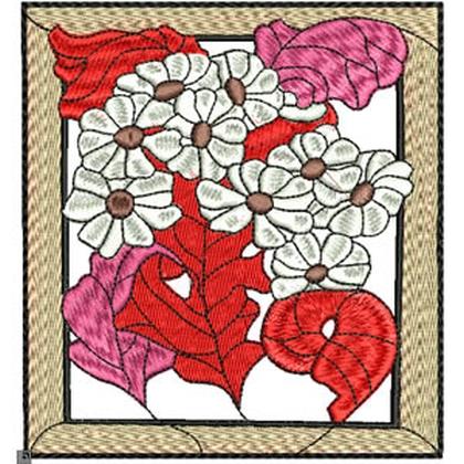 Art Nouveau Large Daisies Embroidery Design