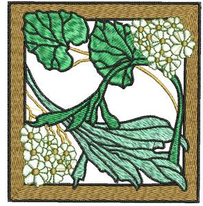 Art Nouveau Daisies Embroidery Design
