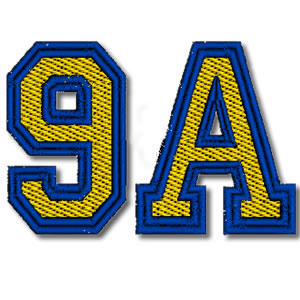 Large Athletic Font Embroidery Design