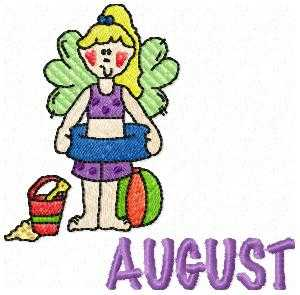 August Holidays Embroidery Design