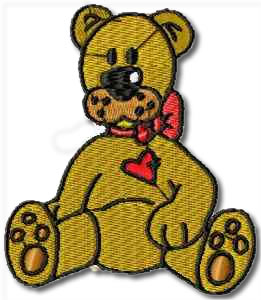 Critters Bear Embroidery Design