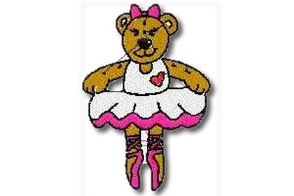 Ballet Dancing Bear Embroidery Design