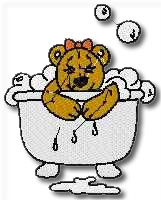 Bubbly Bear Embroidery Design