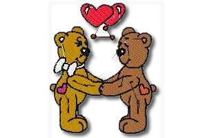 Bear in Love Embroidery Design