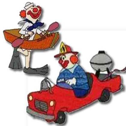 10 set Bills Clowns Embroidery Design