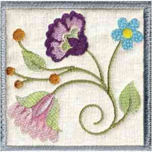Floral Quilting Embroidery Design