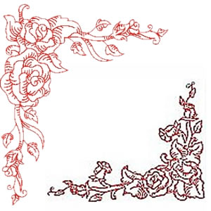 Buying 10 Set Rose Border and Corners embroidery design set represents ...
