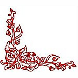 Borders and Corners Roses 1 Embroidery Design