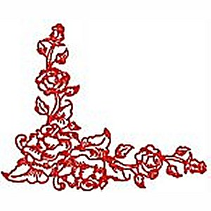 Borders and Corners Roses 2 Embroidery Design