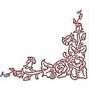 Borders and Corners Roses 6 Embroidery Design