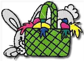 Bunnybasket Embroidery Design