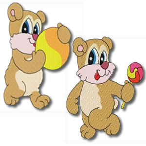Candy Bears Set of 20 designs Embroidery Design