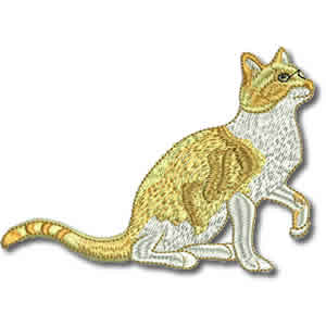 Ginger Cat Embroidery Design